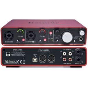 Аудио интерфейс Focusrite Scarlett 2i4