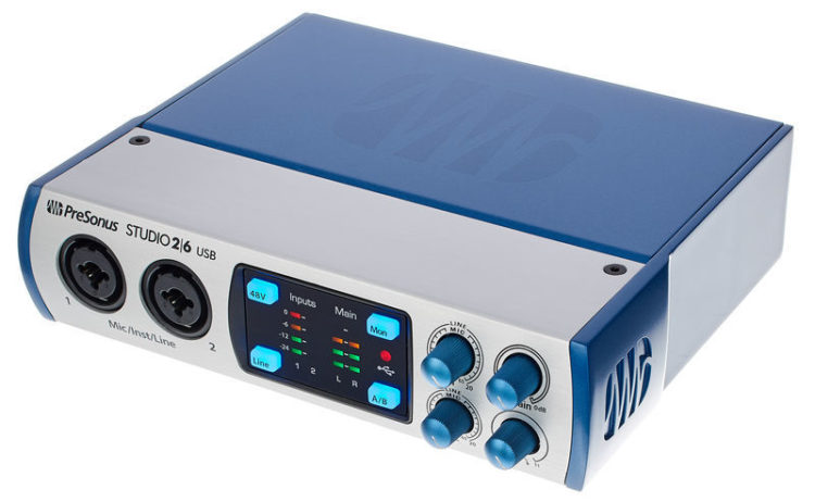аудиоинтерфейс Presonus studio 2 6