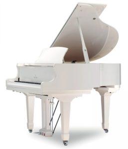 Weber White royal Grand Piano